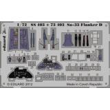 Фототравление 1/72 Су-33 Flanker D самоклеющееся (рекомендовано для Hasegawa) 1:72