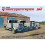 3-осные грузовые автомобили Вермахта (Henschel 33D1, Krupp L3H163, LG3000)
