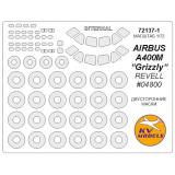 "Маска для модели самолета Аеробус A 400M ""Grizzly"