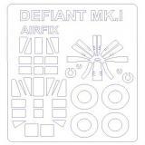 Маска для модели самолета Boulton Paul Defiant Mk.1 выпуска 2015 года (Airfix) 1:72