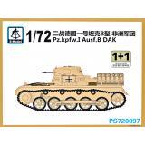 Танк Pz.Kpfw.I Ausf.B DAK (2 модели в наборе) 1:72