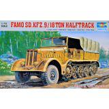 Немецкий полугусеничный бронированный тягач Famo Sd.Kfz. 9/18 1:72