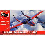 Учебный самолет De Havilland Vampire T.11/J28C 1:72