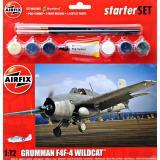 Подарочный набор с моделью самолета Grumman F4F-4 Wildcat 1:72