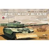 Канадский основной боевой танк Leopard C2 MEXAS с бульдозерным отвалом