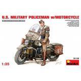 Американский военный полицейский на мотоцикле 1:35