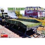 Советская железнодорожная платформа 16,5-18т 1:35