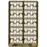 Фототравление: Интерьерные кнехты с перилами для французских военных кораблей, 20-го века 1:350