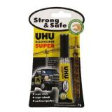 Универсальный контактный секундный клей UHU Super Strong & Safe