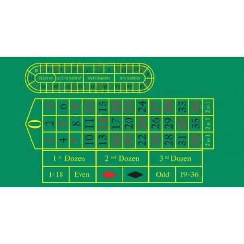 Сукно профессиональное для игры в рулетку (арт. 10219)