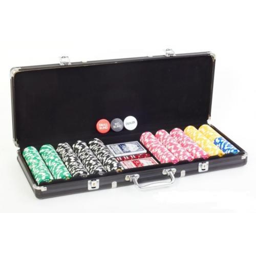 Покерный набор Poker EU 500 фишек, номинал 25-5000, 11,5гр (арт. PS-307)