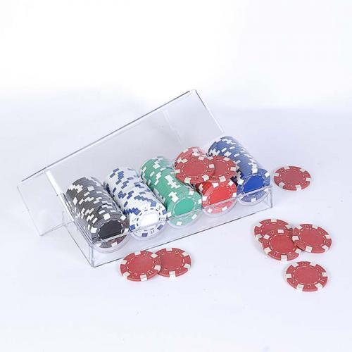 Покерный набор 100 фишек в пластиковом кейсе, без номинала, 4гр, (арт 100-S5)