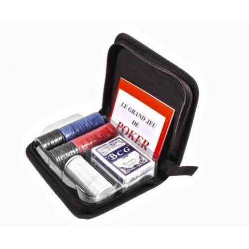 Покерный набор в тканевом кейсе на 200 фишек (арт CC02100)
