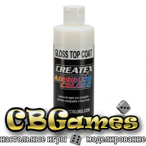 Глянцевый верхний слой для красок Createx AB Gloss Top Coat 5604, 120 мл