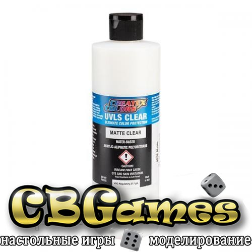 Матовый лак с защитой от ультрафиолета Createx UVLS Matte Clear 4052- 240 мл
