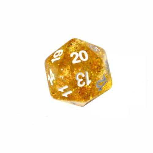 Кубик D20 блестящий (цвет в ассортименте)