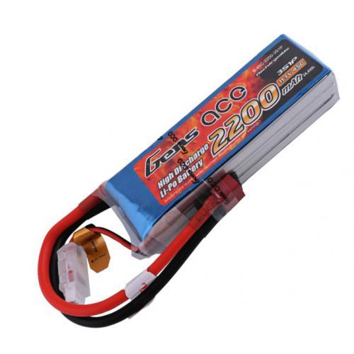 Аккумулятор Gens Ace LiPO 11,1 В 2200 мАч 3S 45C (B-45C-2200-3S1P)