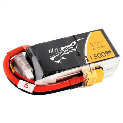 Аккумулятор Tattu LiPO 14,8 В 1300 мАч 4S 75C Drone Racing (TA-75C-1300-4S1P)