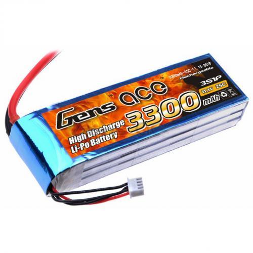 Аккумулятор Gens Ace LiPO 11,1 В 3300 мАч 3S 25C (B-25C-3300-3S1P)