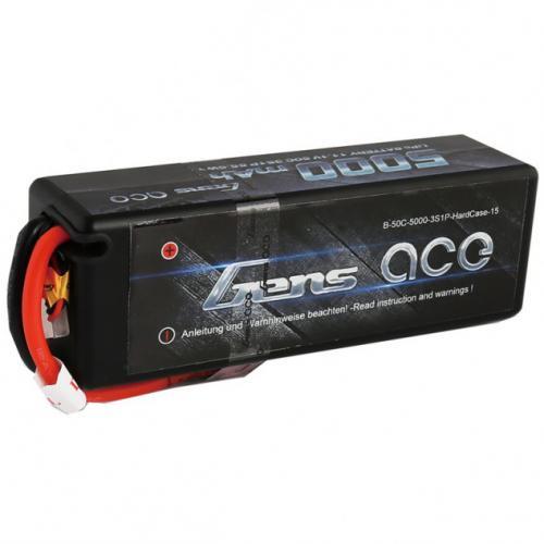 Аккумулятор Gens Ace LiPO 7,4 В 5000 мАч 2S 50C (B-50C-5000-2S1P-HardCase-24)