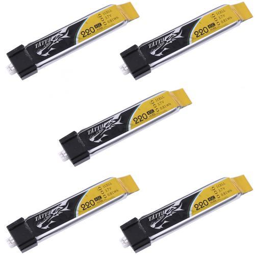 Аккумулятор Tattu LiPO 3,7 В 220 мАч 1S 45C 5 шт (TA-45C-220-1S1P-Molex-5)