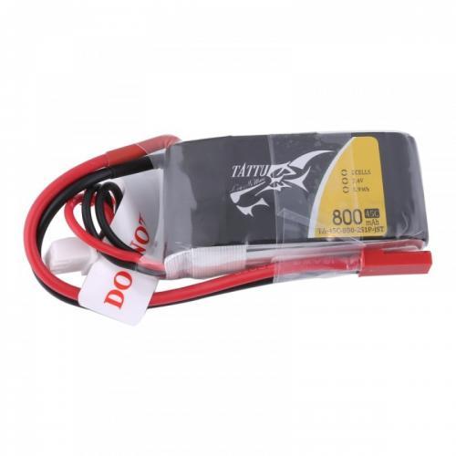 Аккумулятор Tattu LiPO 7,4 В 800 мАч 2S 45C (TA-45C-800-2S1P-JST)