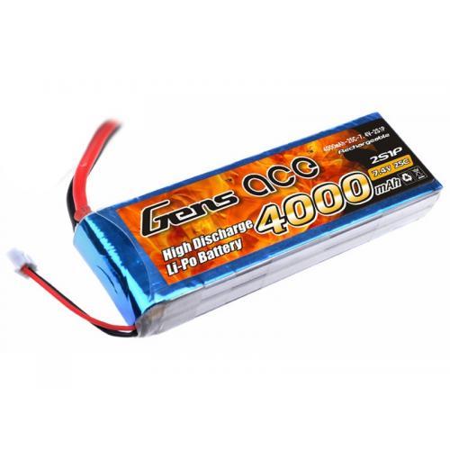 Аккумулятор Gens Ace LiPO 7,4 В 4000 мАч 2S 25C (B-25C-4000-2S1P)
