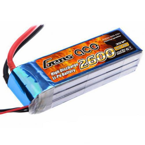 Аккумулятор Gens Ace LiPO 11,1 В 2600 мАч 3S 25C (B-25C-2600-3S1P)