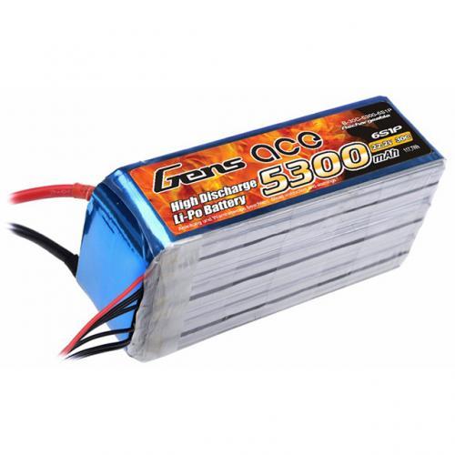 Аккумулятор Gens Ace LiPO 22,2 В 5300 мАч 6S 30C (B-30C-5300-6S1P)