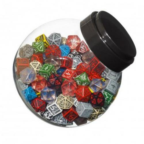 Набор кубиков Jar of dice with D6, D10, D20