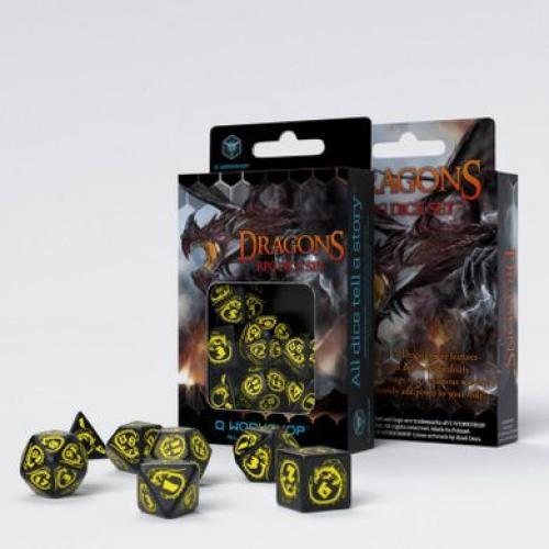 Набор кубиков Drangons Black/Yellow