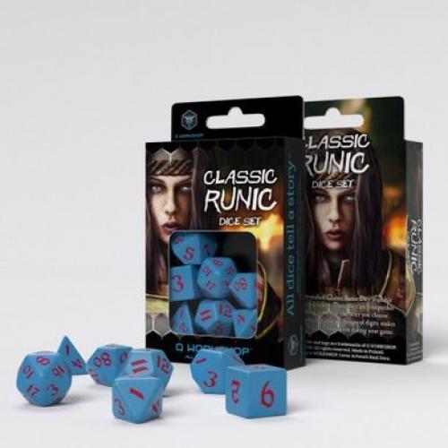 Набор кубиков Classic Runic Blue & red Dice Set