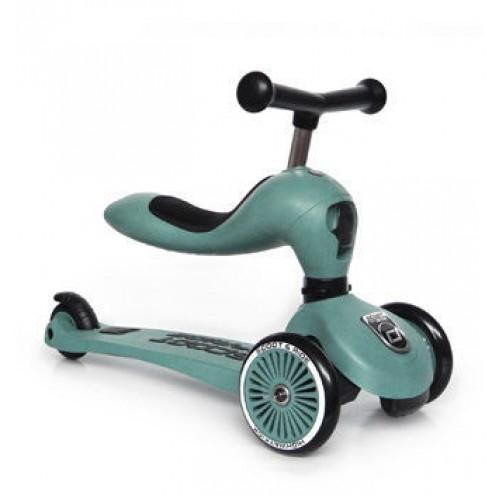 Самокат Scoot and Ride серии Highwaykick-1 серо-зеленый, до 3 лет/20кг