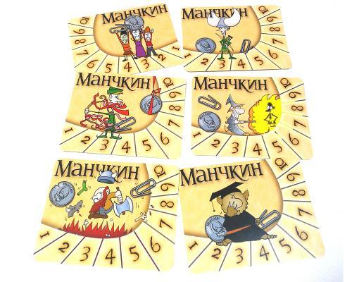 Набор счётчиков уровней Манчкин (Munchkin)