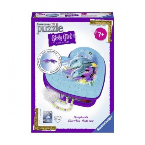 Пазл 3D Ravensburger Girly Girl. Шкатулка Подводный мир 54 элемента