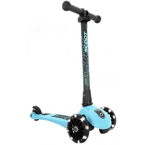 Самокат Scoot and Ride серии Highwaykick-3 со светящимися колесами голубика, 3-6 лет/50кг