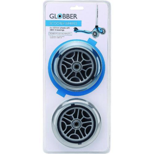 Запчасть к самокатам GLOBBER серий PRIMO/ELITE/EVO/FLOW Набор колес 121мм блистер