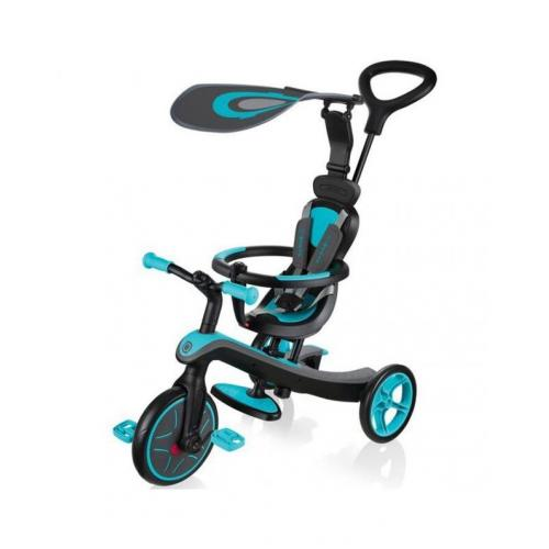 Велосипед детский GLOBBER серии EXPLORER TRIKE 4в1, бирюзовый, до 20кг, 3 колеса