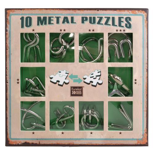 Зеленый Набор | 10 Metal Puzzle Green