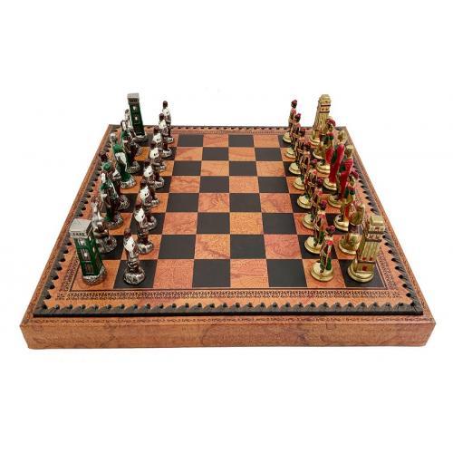 Набор ItalFama Римляне против варваров шахматы + шашки + нарды (1993219MAP)