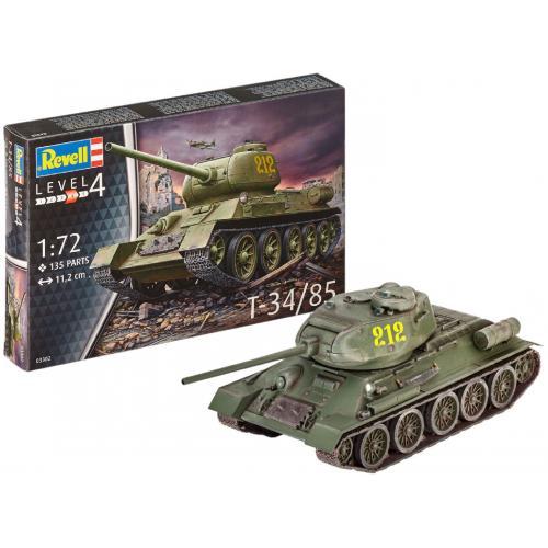 Сборная модель-копия Revell Танк Т-34/85 уровень 4 масштаб 1:72