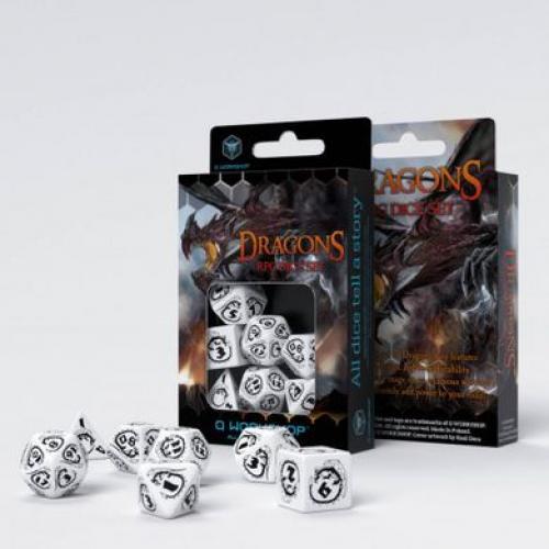 Набор кубиков Dragons White & black Dice Set