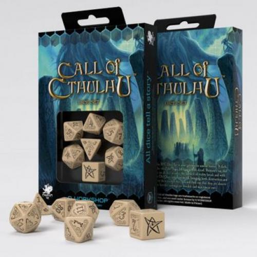 Набор кубиков Call of Cthulhu Beige & black Dice Set