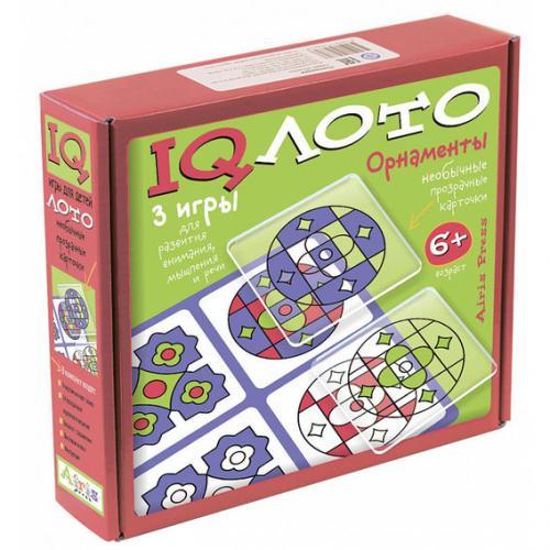 IQ лото. Орнаменты. (6+) Комплект из трех игр (красный)