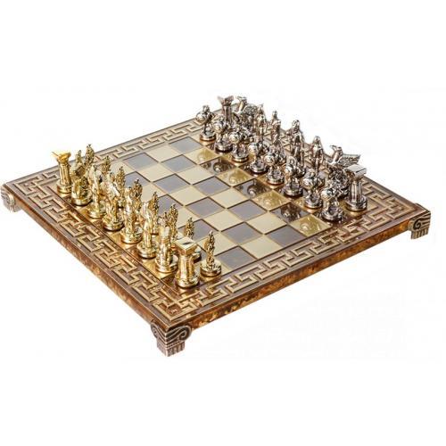 Шахматы Manopoulos Спартанский воин в деревянном футляре коричневые S16CMBRO, 28х28 см