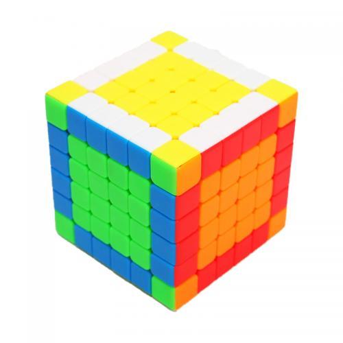 YJ YuShi 6х6 V2M color   Кубик 6х6 без наклеек магнитный
