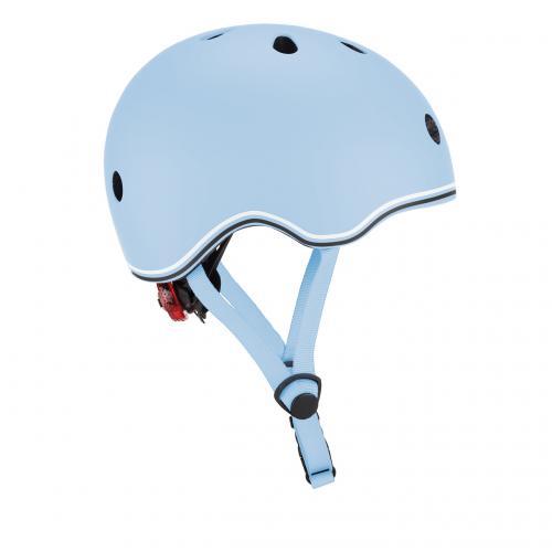 Шлем защитный детский GLOBBER GO UP LIGHTS, пастельний синий, с фонариком, 45-51см (XXS/XS)
