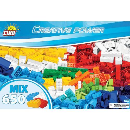 Конструктор COBI Набор кубиков Creative Power, 650 деталей