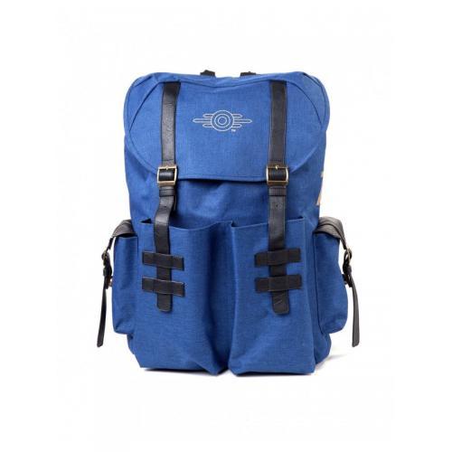 Официальный рюкзак Fallout - Gold Foil Logo Printed Solid Blue Melange Backpack