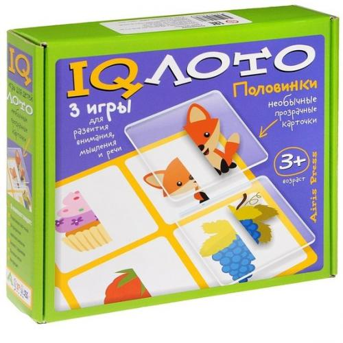 IQ лото. Половинки. (3+) Комплект из трех игр (зеленый)